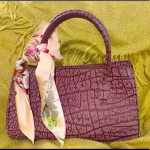 2️⃣2/50 Mauve purple Leather purse